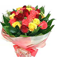 Minimum cost of one mixed flower bouquet