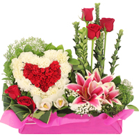 Spectacular Arrangement of Hearty Love