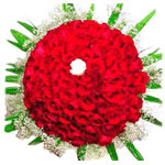 Charming Valentine's 99 Flowers Arrangement