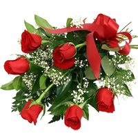 Magical Red Roses Bouquet for Celebration