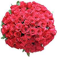 Romantic 99 Long-Stemmed Red Roses