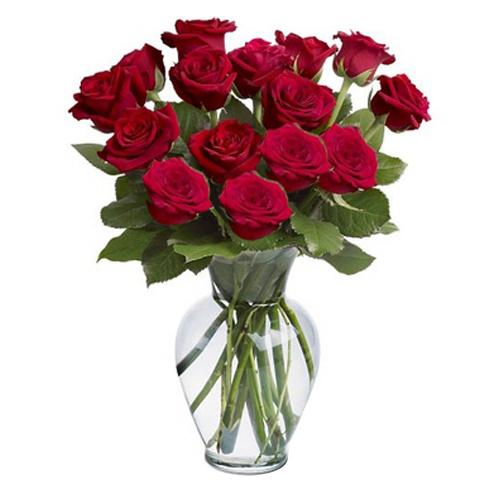 Elegant Lovers Promise Red Roses Arrangements