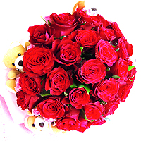 Artistic 30 Red Roses and More for your Valentine