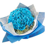 Attention-Getting Bundle of 50 Blue Roses