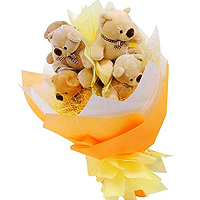 Attention-Getting Teddy Bear Bouquet for your Valentine