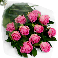 Exquisite Dreamland Carnation Pink Roses Arrangement