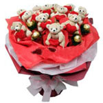 Sensual Teddy N Ferrero Rocher Bouquet for Celebration