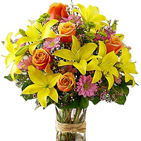 Vibrant Flame of Love Floral Arrangement