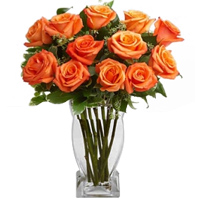 Captivating Valentine's Orange Glow Bouquet