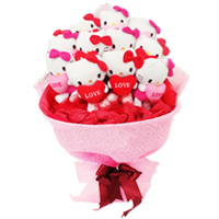 Sensational Teddy Bears Bouquet