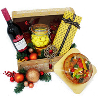 Mind-blowing Jingle Bell Hamper with Set of Gourmet Foods