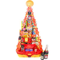 Artistic Gift Tower for Party Celebration