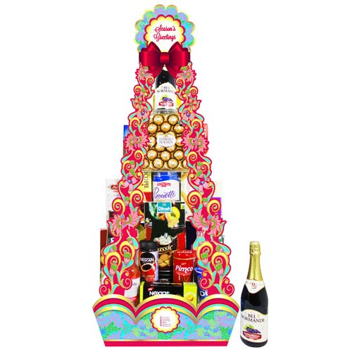 Festive Treat Gift Hamper with Sparkling Wine