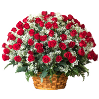 Exquisite Basket of 18 Long Stemmed Roses