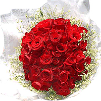 Attractive Red For Love Bouquet