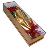 Blossoming Red Roses Arranged in an Exclusive Box