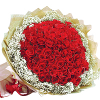 Classy Bouquet of 99 Fiery Red Roses, A True Confession