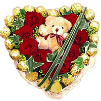 Exotic Roses and Teddy Bear