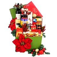 Alluring Midnight Christmas Hamper filled up with accessories
