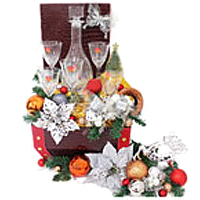 Charming Hamper of Liquor Case